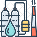 Petrochemical Refinery Industry Icon