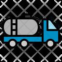 Petrol Truck Transport Transportation Vehicle Fuel Oil Icon