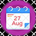 Agenda Date Petroleum Day Calendar Icon