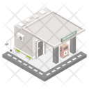 Building Architecture Fuel Station Icon