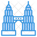 Petronas Twin Tower Building Twin Towers Icon