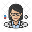 Pharmacist Asian Female Icon