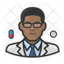 Pharmacist Black Male Pharmacist Black Icon