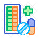 Pharmacy Biohacking Elements Icon