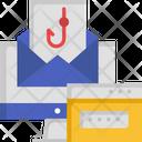 Phishing Data Hacking Data Catch Icon