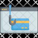 Phishing Credit Card Fraud Phishing Atm Card Icon