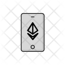 Phone Bitcoin Ethereum Icon