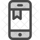 Phone Bookmark Note Icon