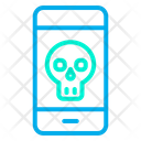 Skull Mobile Device Icon
