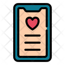 Phone Love Romance Icon