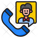 Phone Call Man Icon