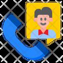 Phone Call Man Icon