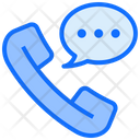 Phone Chat Customer Icon