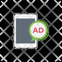 Ad Mobile Marketing Icon