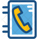 Phone Directory Yellow Icon