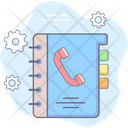 Contact Support Phonebook Icon