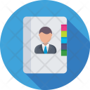 Phonebook Directory Biography Icon