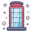 Phone Booth Telephone Booth Emergency Cell Box Icon