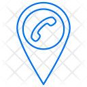 Navigation Call Map Icon