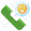 Phone Call Smiley Contact Me Icon