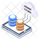 Cloud Connections Cloud Network Phone Cloud Databases Icon