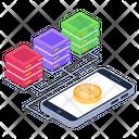 Mobile Server Phone Server Mobile Bitcoin Icon