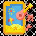 Phone Music Smartphone Summertime Icon