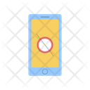 Phone Not Allowed Addiction Disconnected Icon