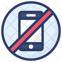 Mobile Blocked Mobile Forbid Illegal Phone Icon