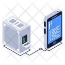 Mobile Server Phone Server Phone Database Icon