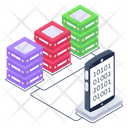 Mobile Servers Phone Servers Phone Databases Icon