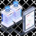 Mobile Servers Phone Servers Phone Database Icon