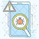 Phone Virus Phone Bug Mobile Malware Icon