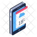 Phone Weather Application Weather Forecast Mobile App Icon