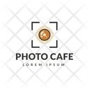 Photo Cafe Hot Coffee Cafe Logomark Icon