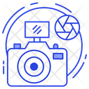 Photo Editing Cropping Photo Assembling Icon