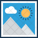 Photo Editing Landscape Icon