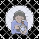 Photographer Girl Woman Icon