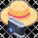 Camera Hat Vacation Icon
