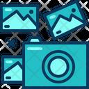 Travel Blue Shoot Icon