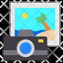 Camera Beach Photo Icon