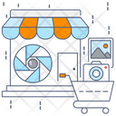 Photography Store Media Shop Photography Shop Icon