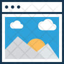 Photography Web Layout Icon