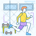 Physical Exercise Stretching Body Meditative Practice Icon