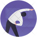 Stretching Physical Exercise Warming Up Icon