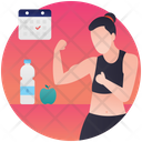 Physical Health Human Health Healthy Activities Icon