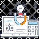 Scientific Atom Magnetic Field Molecular Structure Icon