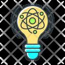 Atom Bulb Lightbulb Icon