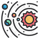 Physics Astronomy Space Galaxy Icon