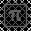 Pi Math Formula Icon